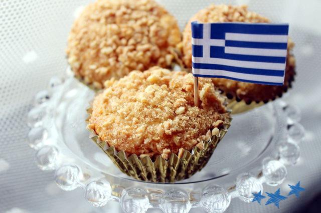 Erdnuss-Muffins inspiriert von griechischen Leckereien